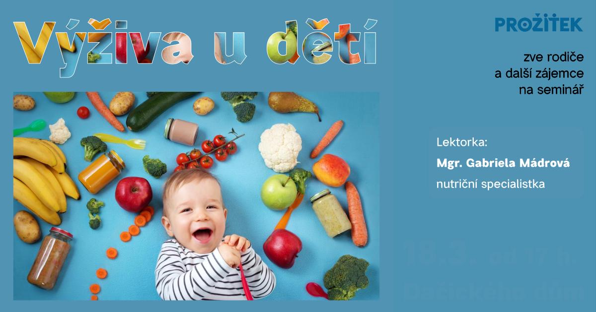 Leták na akci Výživa dětí - 18.3.2020 (odkaz na Facebook událost)